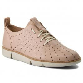 Poltopánky CLARKS - Tri Etch 261325274 Nude Pink Leather
